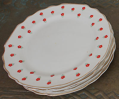 Vintage W S George Lido Blushing Rose 6-75 Lunch or Dessert Plate