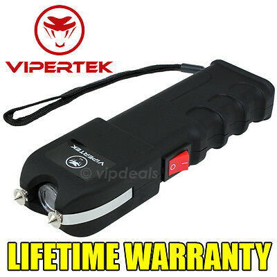 VIPERTEK VTS-989 - 180 BV Stun Gun Rechargeable LED Flashlight