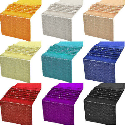 12x72  12x108 Glitz Sequin Table Runners Wedding Party Banquet Decorations