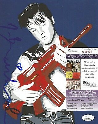 MR BRAINWASH ARTIST LEGEND SIGNED AUTOGRAPHED ELVIS 8X10 PHOTO JSA COA RARE