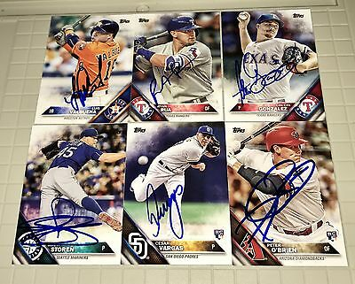 Lot Of 100 Autographed SIGNED 2014-2016 Topps - Heritage Baseball Cards Rcs
