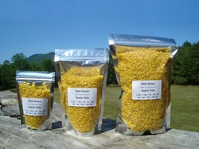 100 Pure Yellow Beeswax Pellets Odorless Beads Filtered Refined All Sizes Bulk