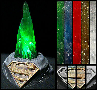 Glow in the dark Superman Kryptonite Crystal Replica with Lighted Display Base