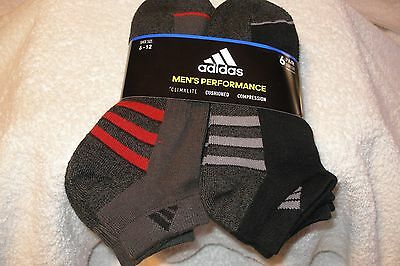 Adidas Men's Low Cut Sock with Climalite 6-pack- Black