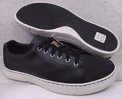 NEW Clarks Mens Ballof Walk Black Leather Casual Lace Up Shoes 12586 size 8 M