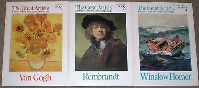 Lot 25 large art books complete boxed set The Great Artists by Funk - Wagnalls