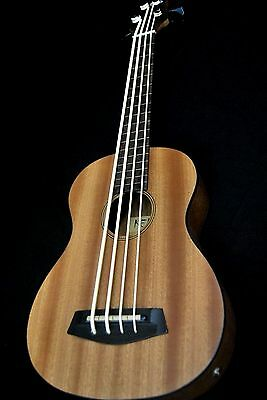 KELO ELECTRIC ACOUSTIC 4 STRING FRETLESS UKELELE BASS UBASS W AQUILA STRINGS