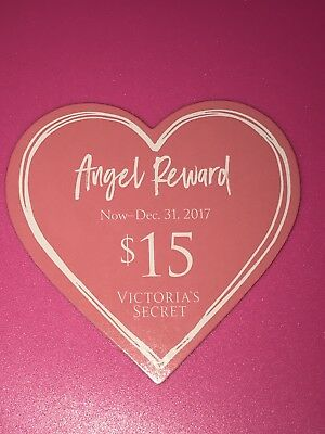 VICTORIA'S SECRET 15 ANGEL REWARD CARD USE IN STORE AND ONLINE NEW
