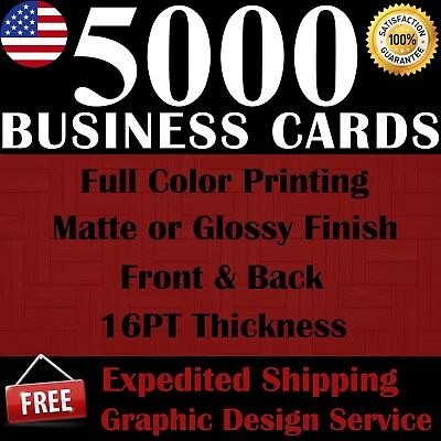 5000 CUSTOM BUSINESS CARDS  FULL COLOR  FREE SHIPPING  FREE DESIGN SERVICE