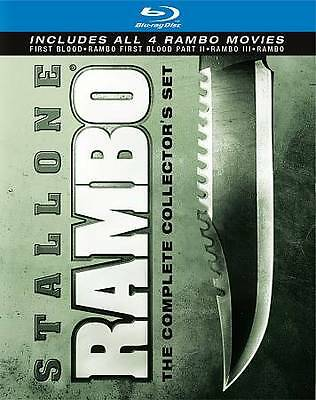 Rambo The Complete Collectors Set Blue ray new free shipping