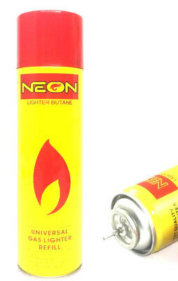 NEON ULTRA REFINED BUTANE GAS FILTERED LIGHTER REFILL FUEL w 5 Adapters