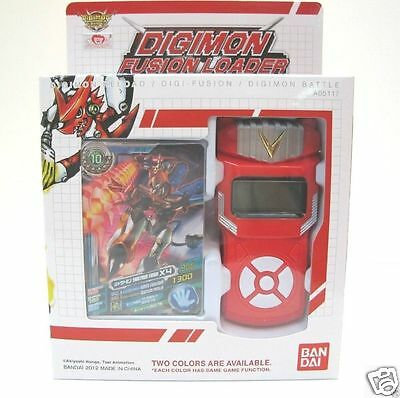 Bandai Digimon Xros Wars RED Fusion Loader Digivice English Ver- Date Link NEO