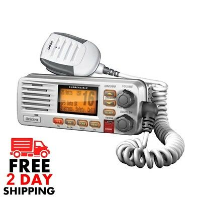 Uniden UM380 Class D Full-Feature Fixed Mount VHF Marine Radio w DSC White