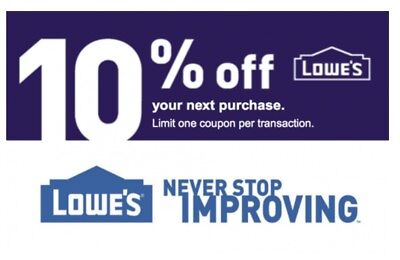 Three 3x Lowes 10 OFF-Coupon Online - In Store -Exp 113017 -Fast Delivery