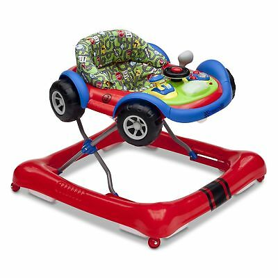 Delta Children Lil Drive Play Car Style Rolling Baby Bouncer Walker GT Roadster