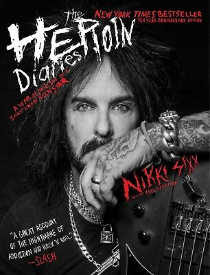 NIKKI SIXX SIGNED BOOK THE HEROIN DIARIES 10TH ANNIV EDITION - COA MOTLEY CRUE