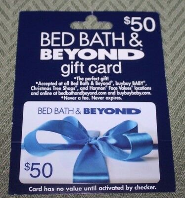50 Dollar Gift Card Bed Bath and Beyond