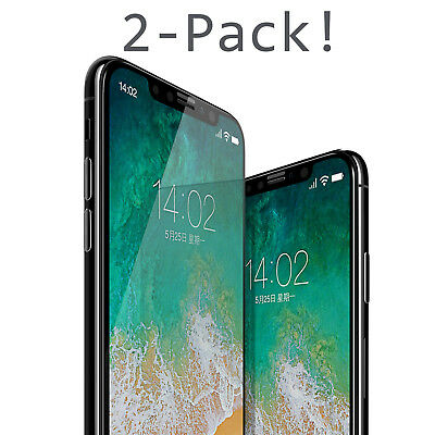 iPhone X  10 7 Premium Tempered Glass HD Screen Protector Film Guard For Apple