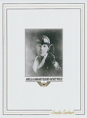 AMELIA EARHART owned personal worn FLIGHT JACKET piece relic swatch clothing