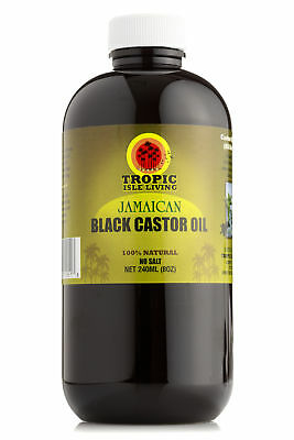 Tropic Isle Living- Jamaican Black Castor Oil 8 oz Plastic PET Bottle