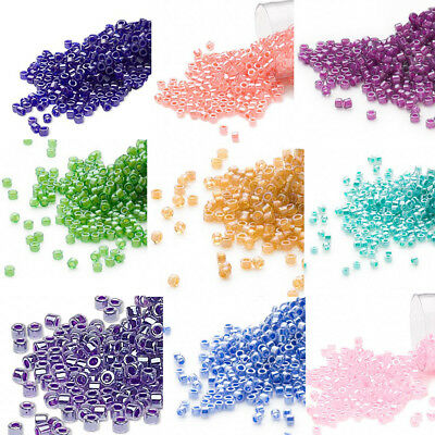 1200 Miyuki Delica 11 Opaque Glass Seed Beads 110 COLOR LINED  7-2 Grams