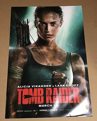 Tomb Raider 2018 Original Movie Poster- Double Sided 27x40- Lara Croft