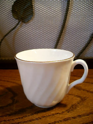 Royal Grafton Fine Bone China White Demitasse Cup w Gold Trim