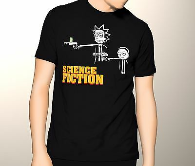 Rick and Morty Shirt Pulp Fiction Science Fiction S-5XL Graphic T-Shirt