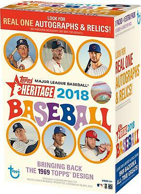 2018 Topps Heritage Baseball Factory Sealed 8 Pack Blaster Box - Fanatics