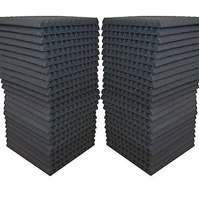 48 Pack - Acoustic Panels Studio Soundproofing Foam Wedge tiles 1x12x12