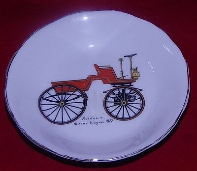 Vintage Royal Grafton Saucer Seldens Motor Wagon 1877 4 Across So Charming