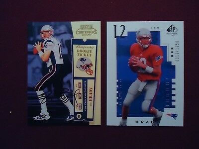 Tom Brady Rookie RP Reprint 2000 Playoff Contenders Ticket Auto - UD SP 121250