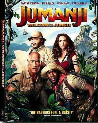 Jumanji Welcome to the Jungle DVD 2018 NEW PRE-ORDER SHIPS ON 032018