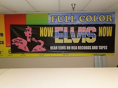 Rare Elvis Concert Stage Banner RCA 1972 Two known to exist 2 Sizes  2 Styles