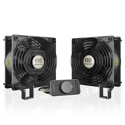 AXIAL S1238D Dual 120mm Muffin Fan Doorway Room to Room Wood Stove Fireplace