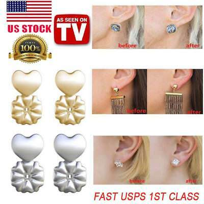 MagicBax Earring Lifts Backs Hypoallergenic Gold Plated Sterling Sliver Lifters