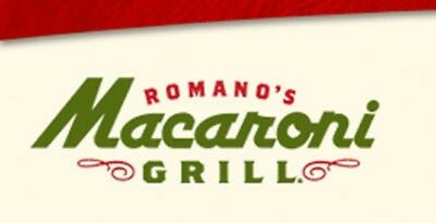 50 • Romanos Macaroni Grill E-Gift CardCertificate Delivery Via US Mail Only