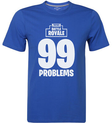 Fortnite Battle Royale 99 Problems T-Shirt Gaming Game Logo Shirts Mens Clothing