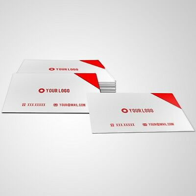 Print 1000 Custom Business Cards - Matte Finish - Single or Double Sided - 18