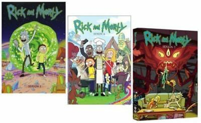 Rick and Morty The Complete Series Season 1-3 6-Disc DVD Box Set New Sealed