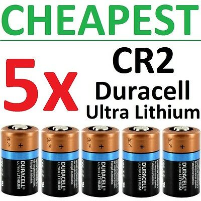 5 NEW Duracell Ultra Lithium CR2 Batteries 3V DLCR2 CR17355 ELCR2 Exp 2024-