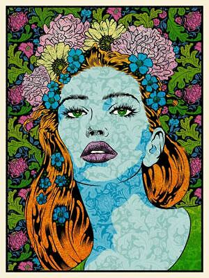 Chuck Sperry Reason Art Limited Edition Screen Print Poster Lady Portrait Rhyme