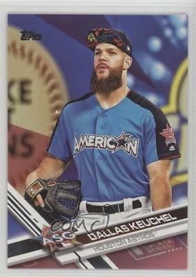 2017 Topps Update Series Mothers Day Hot Pink US132 Dallas Keuchel Card