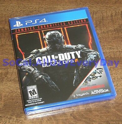 Call of Duty Black Ops III 3 ZOMBIES CHRONICLES Edition PS4 BRAND NEW -SEALED