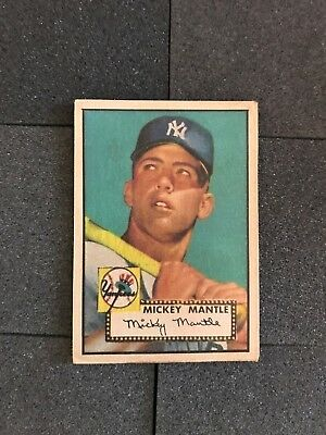 1952 Topps Mickey Mantle Rookie Baseball Card 311