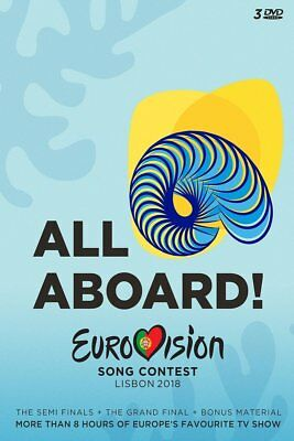 EUROVISION SONG CONTEST-LISBON 2018  3 DVD NEW-