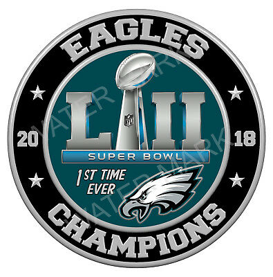 Philadelphia Eagles Super Bowl 52 2018 Champions 3 Sticker Decal NFL Football