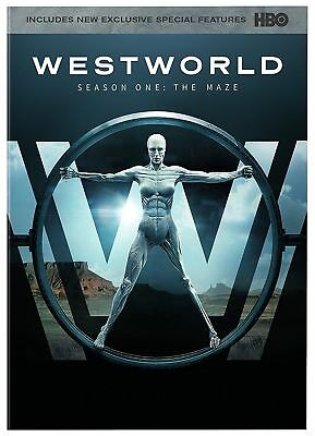 Westworld The Complete First Season 1 DVD 2017 3-DiscSealed - Free Shipping