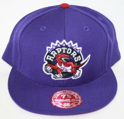 NEW Toronto Raptors MITCHELL - NESS NBA Purple Logo Fitted Baseball Hat Cap