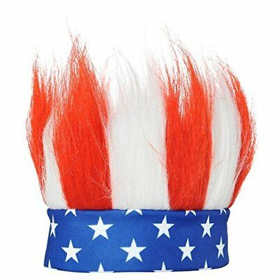 Fourth of July Crazy Hair Headband Accessory Fabric Standard Size 376524